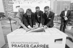 Grundsteinlegung Prager Carrée