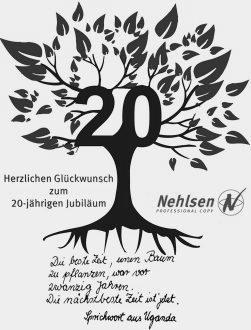 Die Firma Nelsen schenkt uns zum 20. einen Baum. Was für eine schöne Idee!